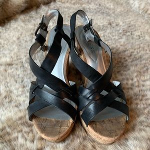 Straps Guess wedge sandals